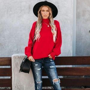 ALDONO Mock Neck Knit Sweater